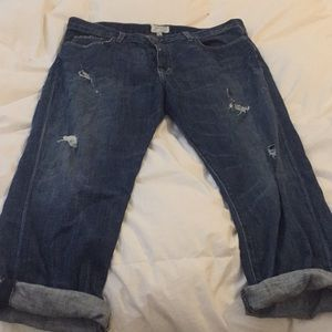 Current/Elliott Boyfriend Distressed Jeans